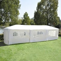 Outsunny Gazebo Canopy Party Tent with Removable Side Walls