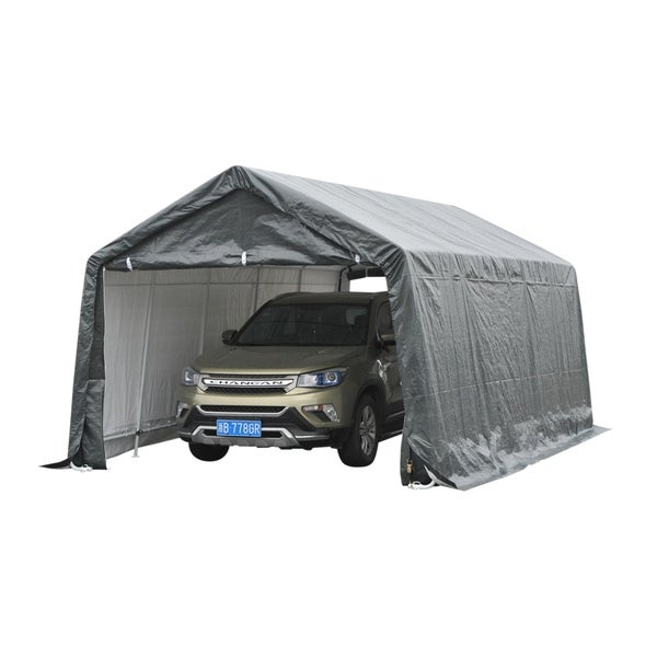 Outsunny Heavy Duty Enclosed Vehicle Shelter Carport