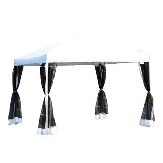 Outsunny Pop Up Canopy Shelter Party Tent with Mesh Walls