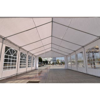 Outsunny White Steel/Polyethylene Heavy-duty Carport Canopy Wedding Tent/Garage
