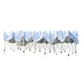 Outsunny White Pop-up Canopy Tent With Steel Frame