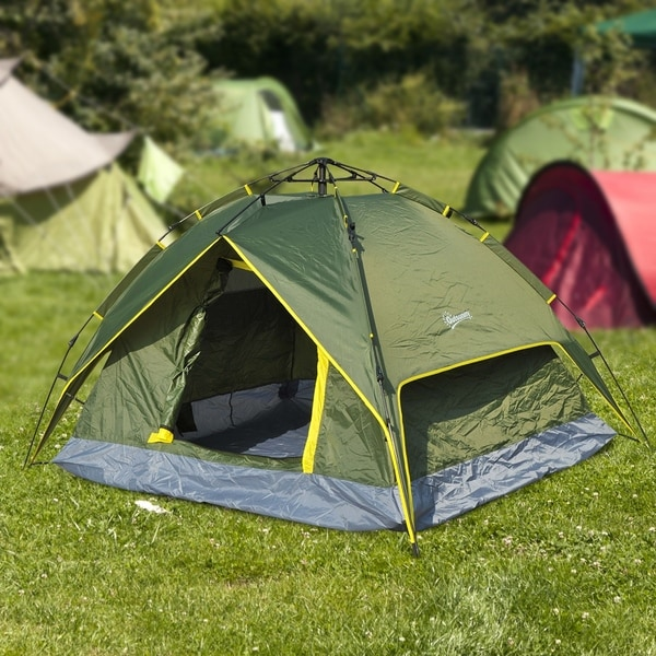 Outsunny 4 Person Instant C&ing Tent Shelter & Shop Outsunny 4 Person Instant Camping Tent Shelter - On Sale - Free ...