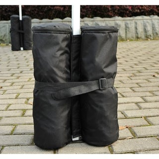Outsunny Black 4 Piece Weight Bag Set for Pop Up Canopy Party Tents