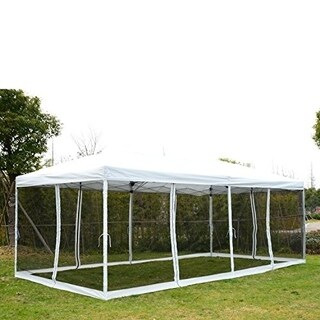 Outsunny Pop Up Canopy Shelter Party Tent with Mesh Walls|https://ak1.ostkcdn.com/images/products/18004826/P24175559.jpg?_ostk_perf_=percv&impolicy=medium
