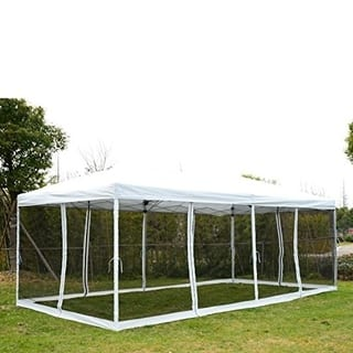 Outsunny Pop Up Canopy Shelter Party Tent with Mesh Walls|https://ak1.ostkcdn.com/images/products/18004826/P24175559.jpg?impolicy=medium