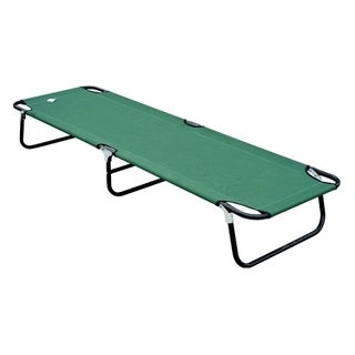 Outsunny Deluxe Folding Military style Camping Cot - Green