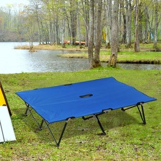 Link to Outsunny 2-person Double-wide Folding Camping Cot Similar Items in Camping & Hiking Gear