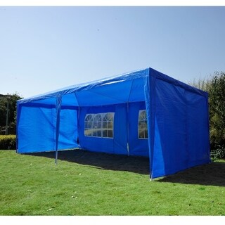 Outsunny Gazebo Canopy Party Tent with 4 Removable Side Walls