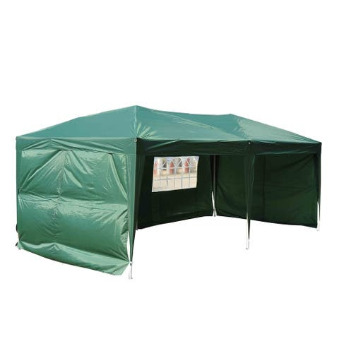 10 x 20 Pop Up Tent with 4 Removable Sidewalls