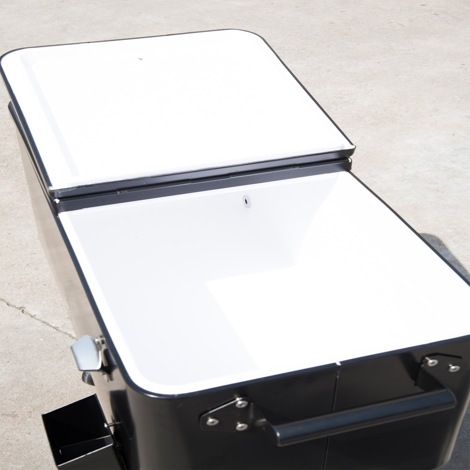 Outsunny Rolling Ice Chest Portable Patio Party Drink Coo...
