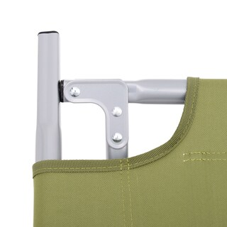 Outsunny Heavy Duty Outdoor Folding Military Style Camping Cot - Green