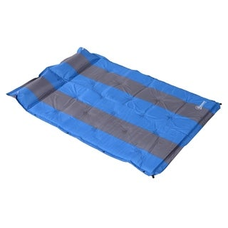 Outsunny Double Bed Camping Self Inflating Air Mattress - Blue