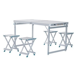 Outsunny Portable Folding Outdoor Picnic Table with 4 Seats