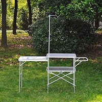 Outsunny Portable Fold Up Camp Kitchen