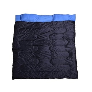 Outsunny Camping Two Person Double Wide Sleeping Bag With Pillows