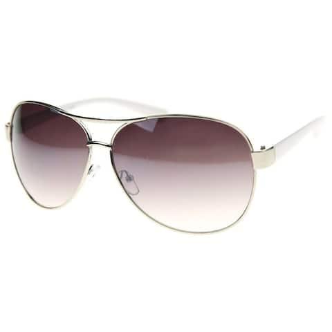 MLC Eyewear Thick Frame Retro Classic Fashion Aviator Sunglasses Model: NGF762