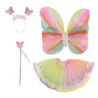Halloween Party Princess Set with Wings, Tutu, Wand and Headband - Assorted