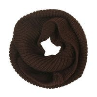 Women's Thick Knitted Warm Circle Loop Infinity Scarf