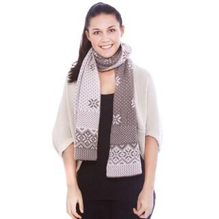 Women's Reversible Multi-Colored Knit Long Scarf Shawl