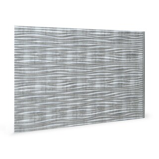 Innovera Decor by Palram Wilderness Crosshatch Silver 18.5-in. x 24.3-in. Backsplash Panel