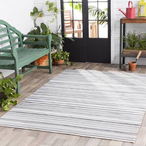 "Giornico Striped Classic Indoor/ Outdoor Area Rug - 5' x 7'6"""