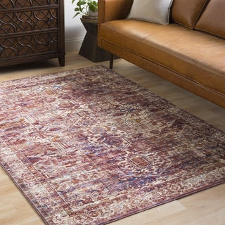 Remigio Traditional Oriental Burnt Orange Area Rug (5' x 7'3) - 5' x 7'3""