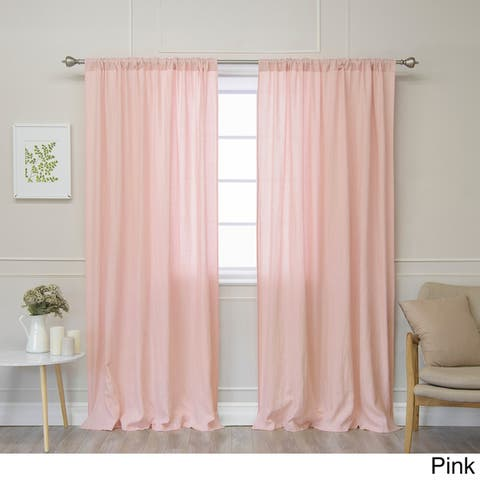 Aurora Home Belgian Flax Linen Curtain Panel