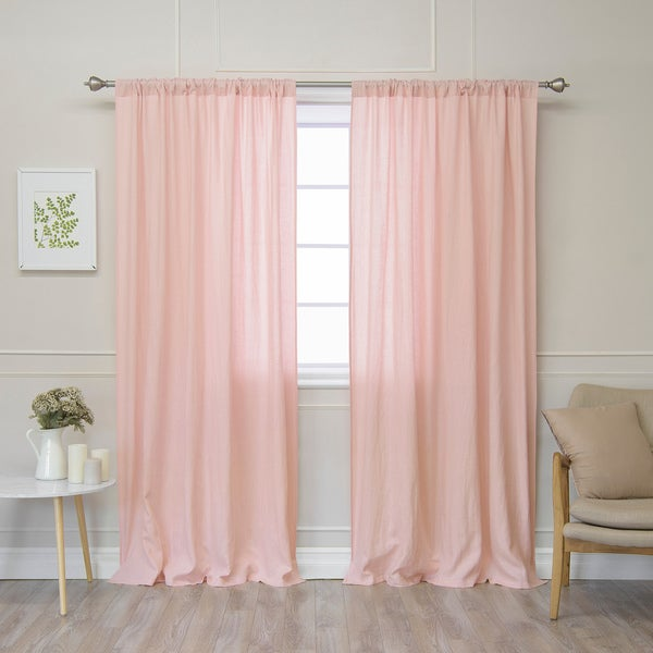 Aurora Home Belgian Flax Linen Curtain Panel - Free Shipping Today ...