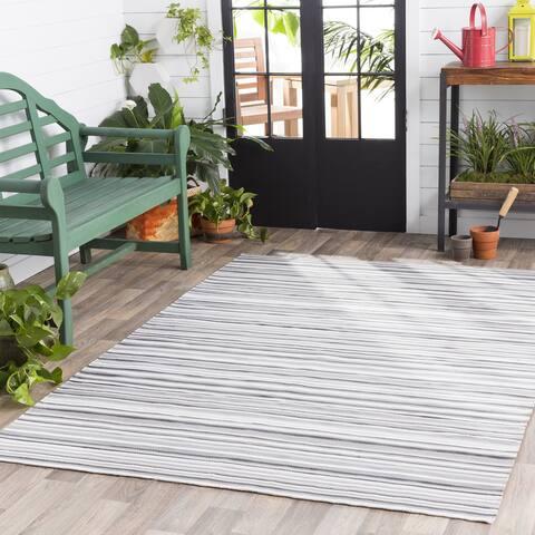 Giornico Classic Striped Indoor/ Outdoor Area Rug - 8' x 10'
