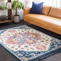 "The Curated Nomad Dartmouth Traditional Oriental Navy Area Rug - 9'3"" x 12'1"""
