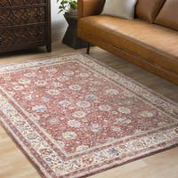 Caius Rust/Beige Traditional Oriental Area Rug (9'6 x 13'6)