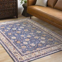 Caius Traditional Oriental Navy Area Rug (7'10 x 10'6)
