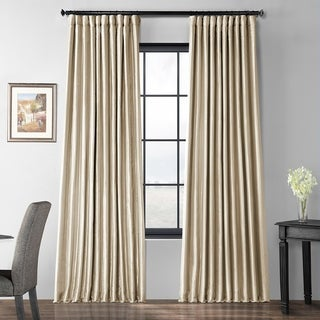 Exclusive Fabrics Glazed Parchment Blackout Extra Wide Faux Silk Taffeta Curtain