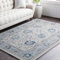 Huavied Traditional Oriental Navy Area Rug - 2' x 3'