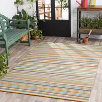 Giornico Classic Multicolor Striped Area Rug (2' x 3') - Multi