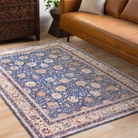 Caius Traditional Oriental Navy Area Rug (2' x 3')