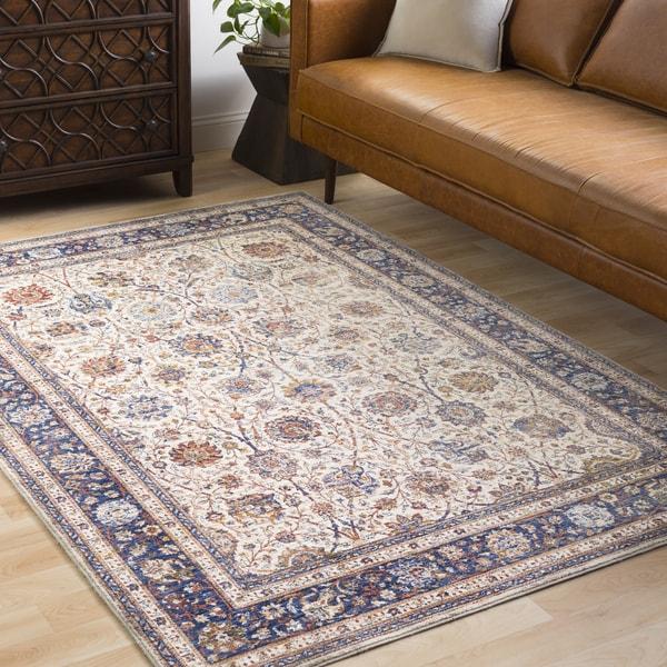 "Copper Grove Qara Traditional Oriental Cream Runner Area Rug - 3' x 10'3"" Runner"