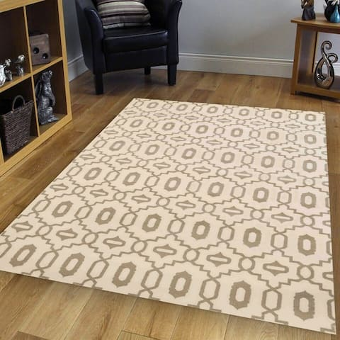 Admire Home Living Bronte Contemporary Abstract Geometric Pattern Area Rug