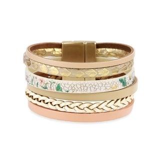 Handmade Saachi Multi Strand khaki Bracelet (China)