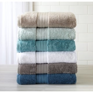 Home Fashion Designs Alina Collection 6 Piece Luxury Hotel / Spa Turkish Cotton Modal Blend Towel Set