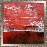Lisa Carney 'Geo Horizon 78' Hand Painted Oil Reproduction