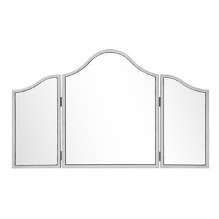 Chamberlan 39 in. Contemporary Mirror in Silver - Antique Silver