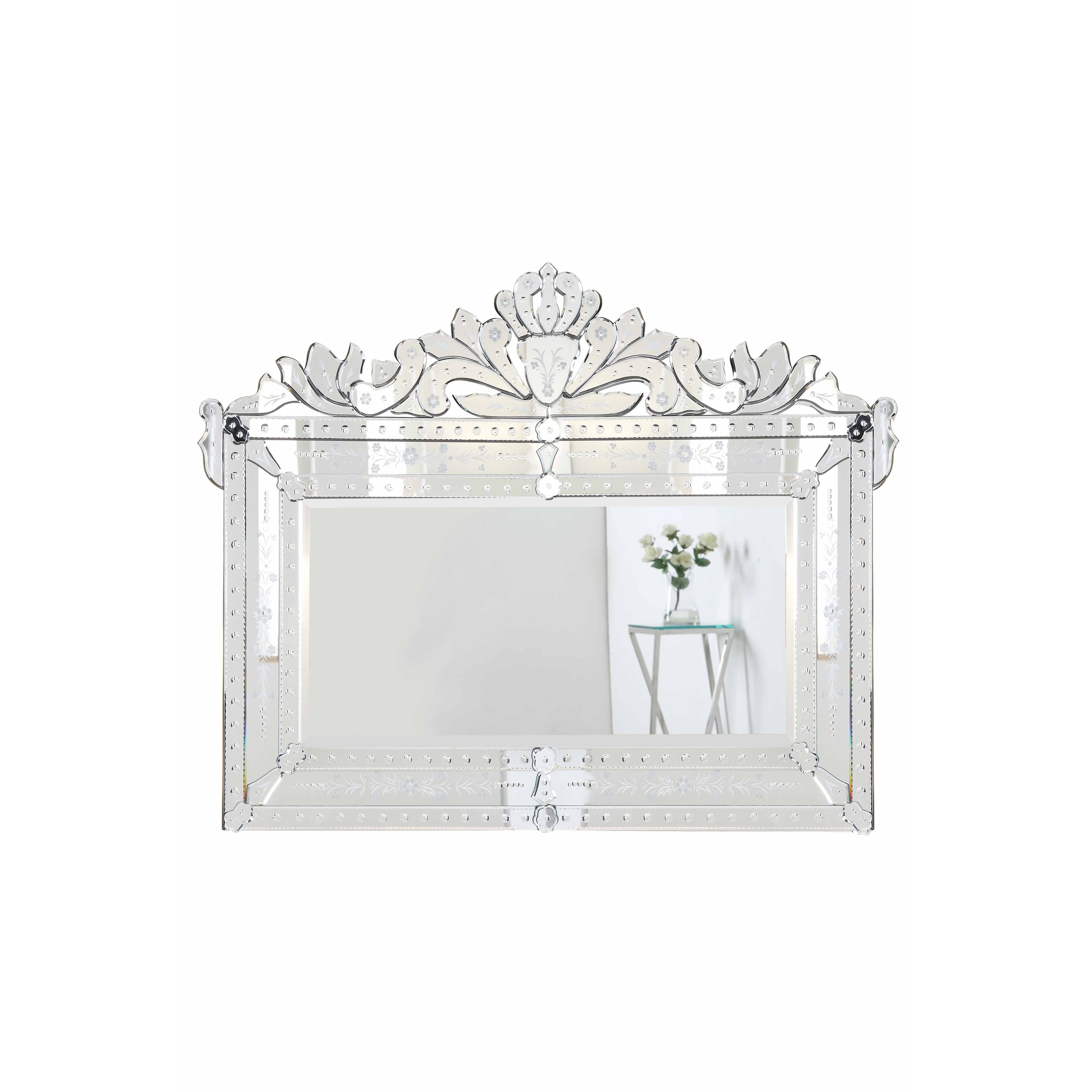 Elegant Venetian Clear 42.5-Inch Transitional Mirror