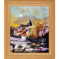 Pol Ledent 'Chassepierre 6741' Hand Painted Oil Reproduction