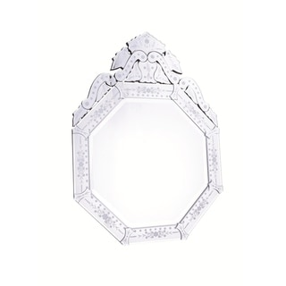 Venetian Clear-finish Wood Frame 30-inch Mirror