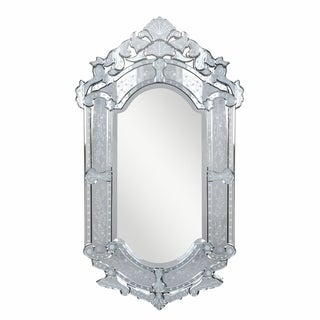Venetian 27.6 in. Transitional Mirror in Clear