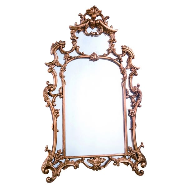 Shop Antique 28 75 In Traditional Mirror In Antique Gold