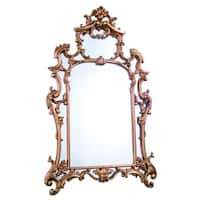 Gold-tone Resin/Glass Antique-style Irregular Traditional Wall Mirror