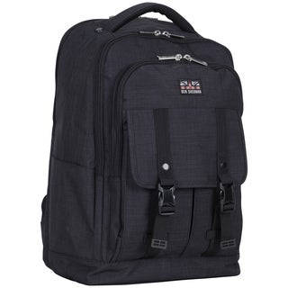 Ben Sherman Heathered Navy Dual Compartment 15.6-inch Laptop Travel Backpack