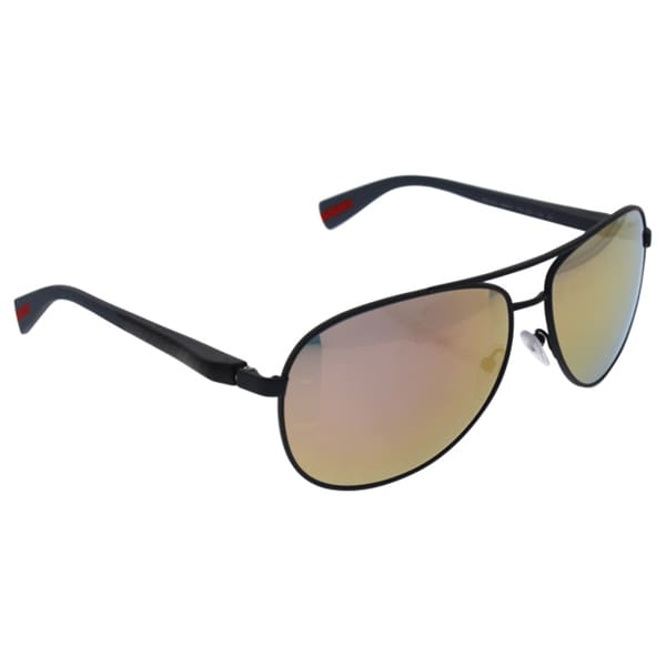 ff1dbfb2e74bb ... uk prada sps 510 tfz 2d2 unisex grey rubber frame grey mirror rose gold  lens sunglasses